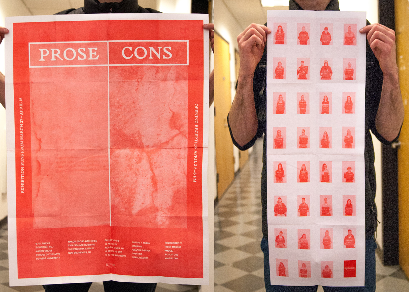 No Prose No Cons Thesis Exhibition Design