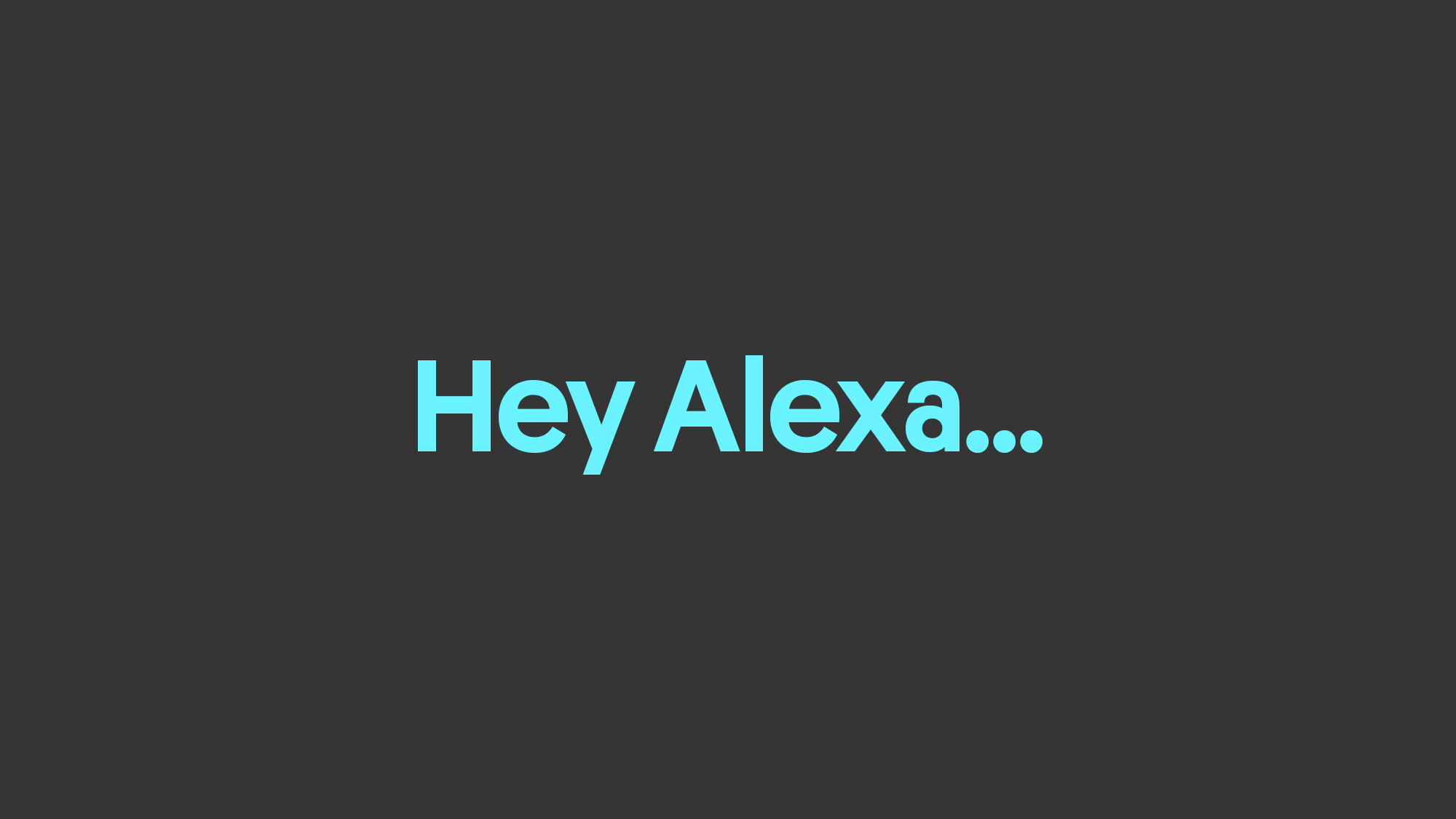 How to research, design and present an Amazon Alexa Skill