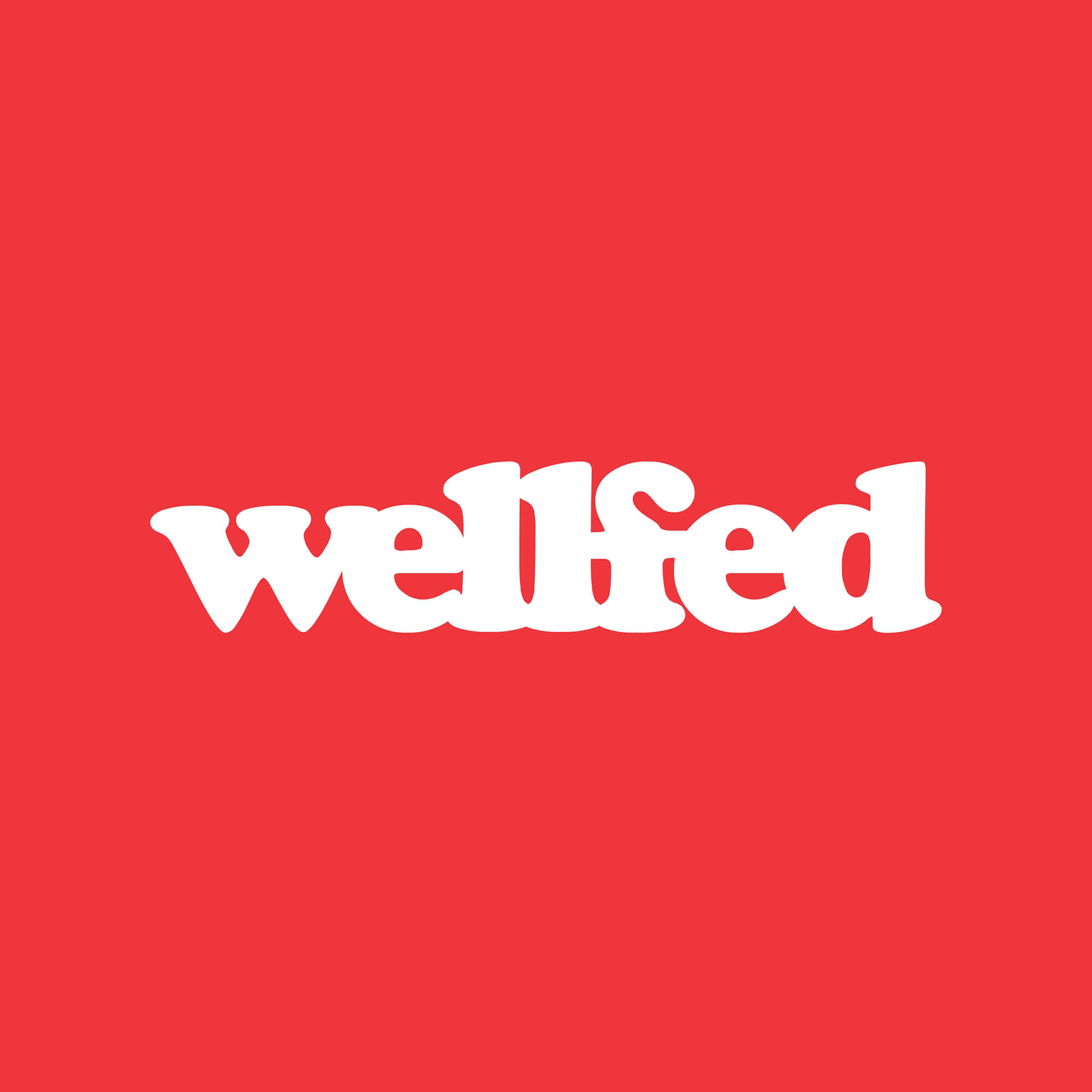 Wellfed Brand Design Logo Red