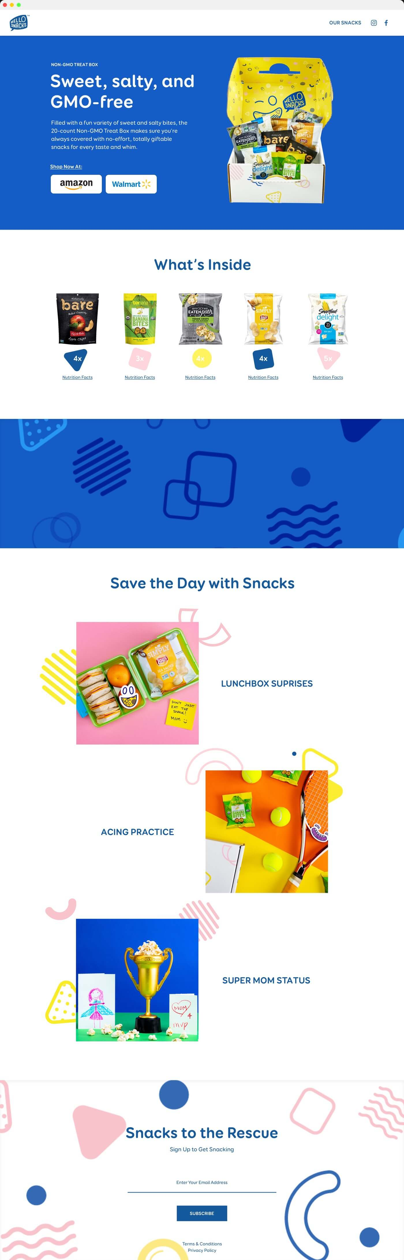 HelloSnacks Shopify E-commerce Website Design