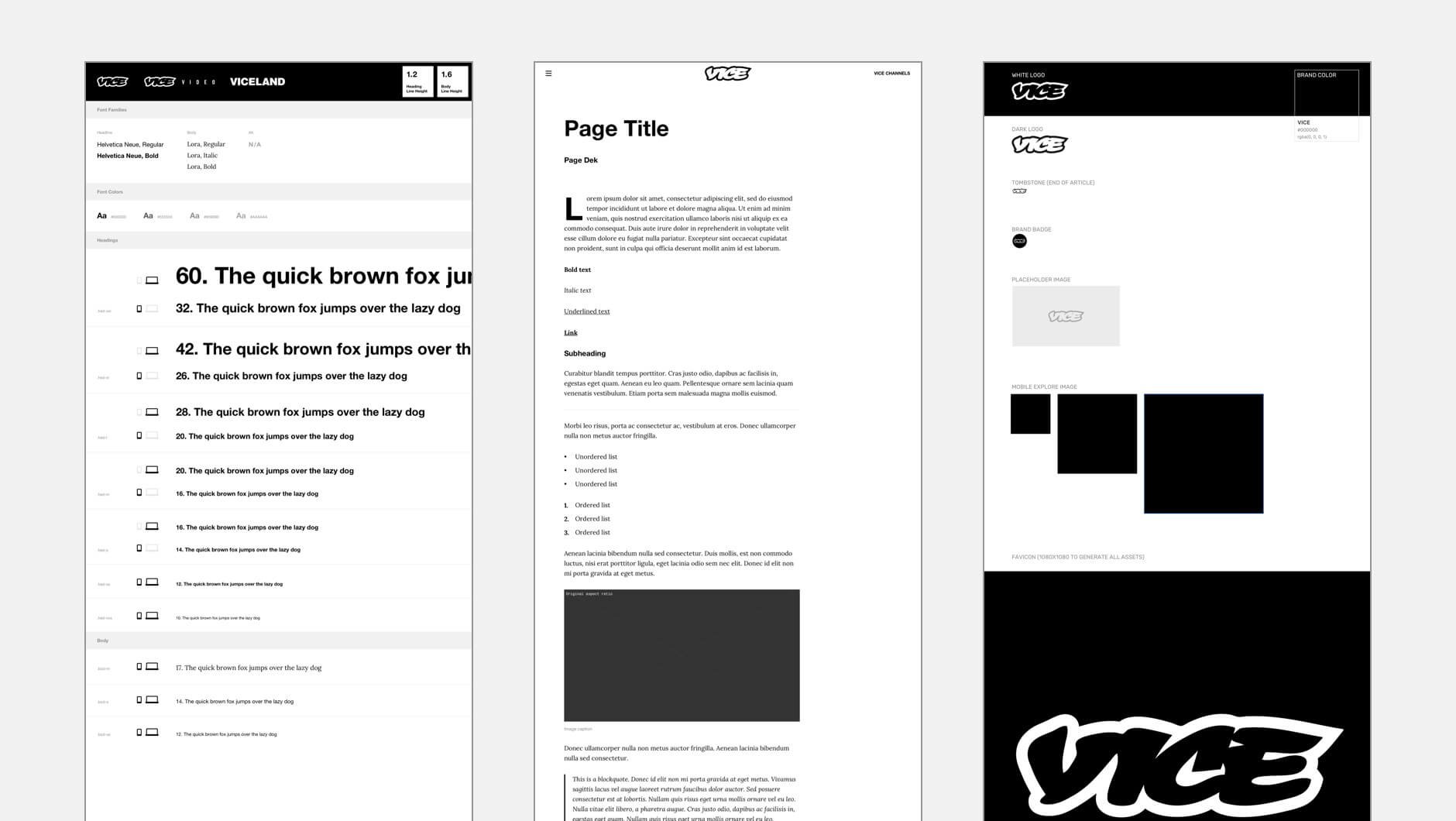 Vice Media Product Design System Components