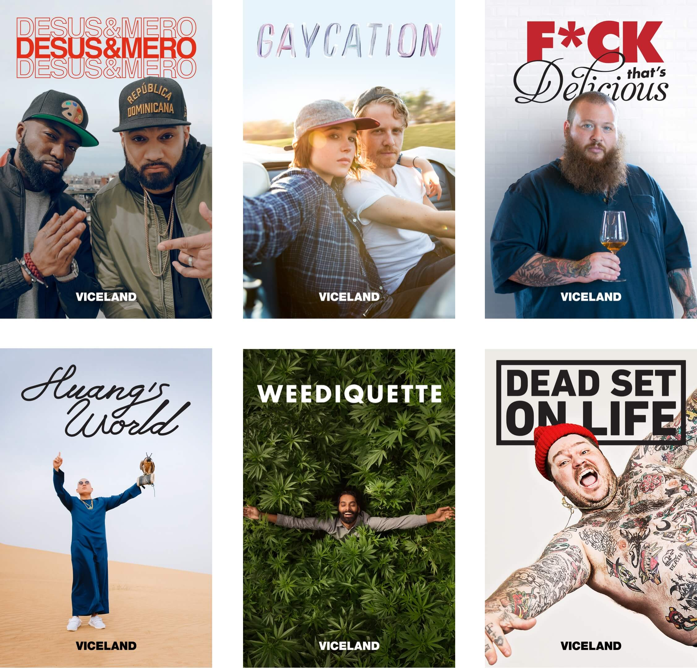 Viceland Marketing Show Poster Designs