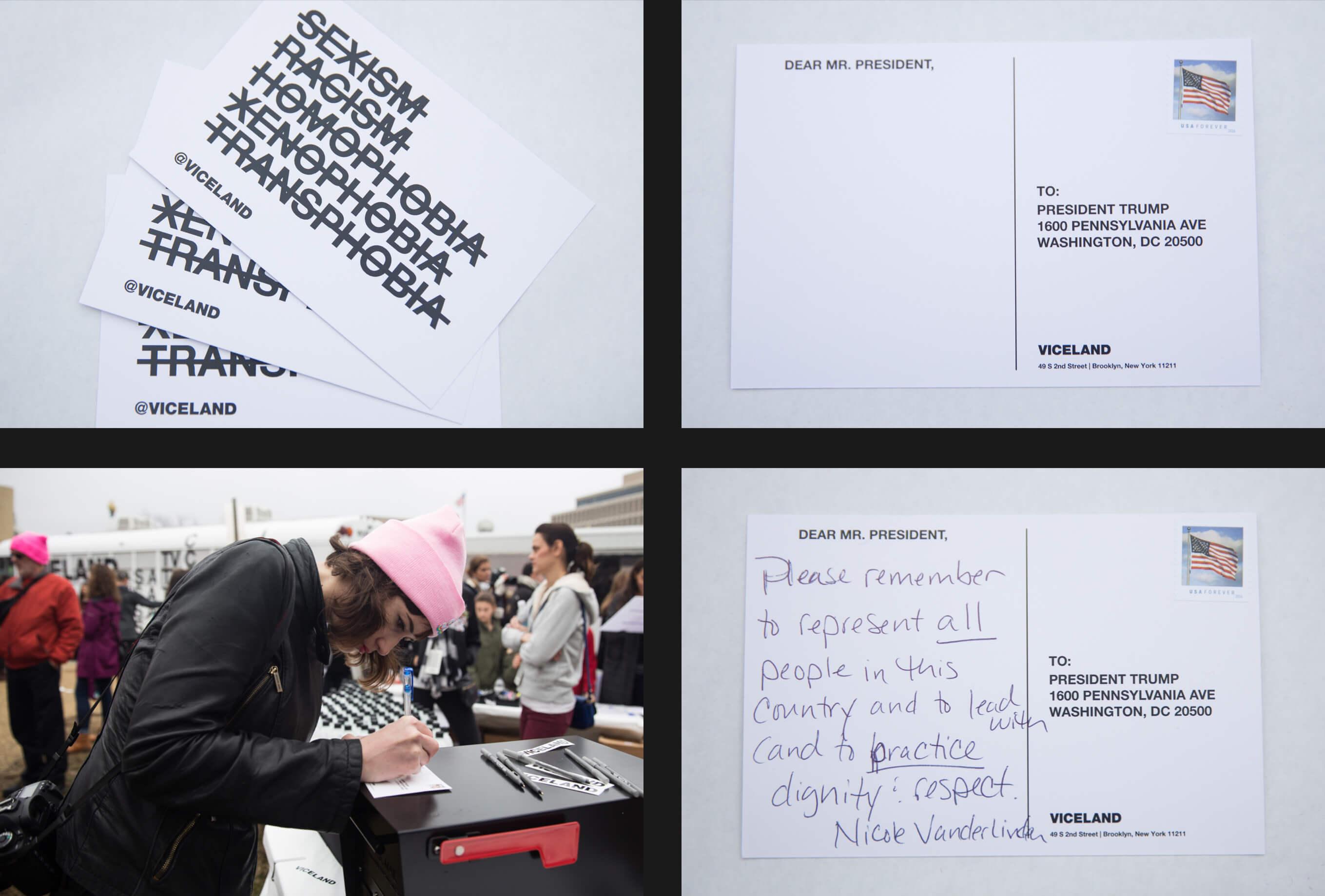 Viceland Womens March Postcard Design