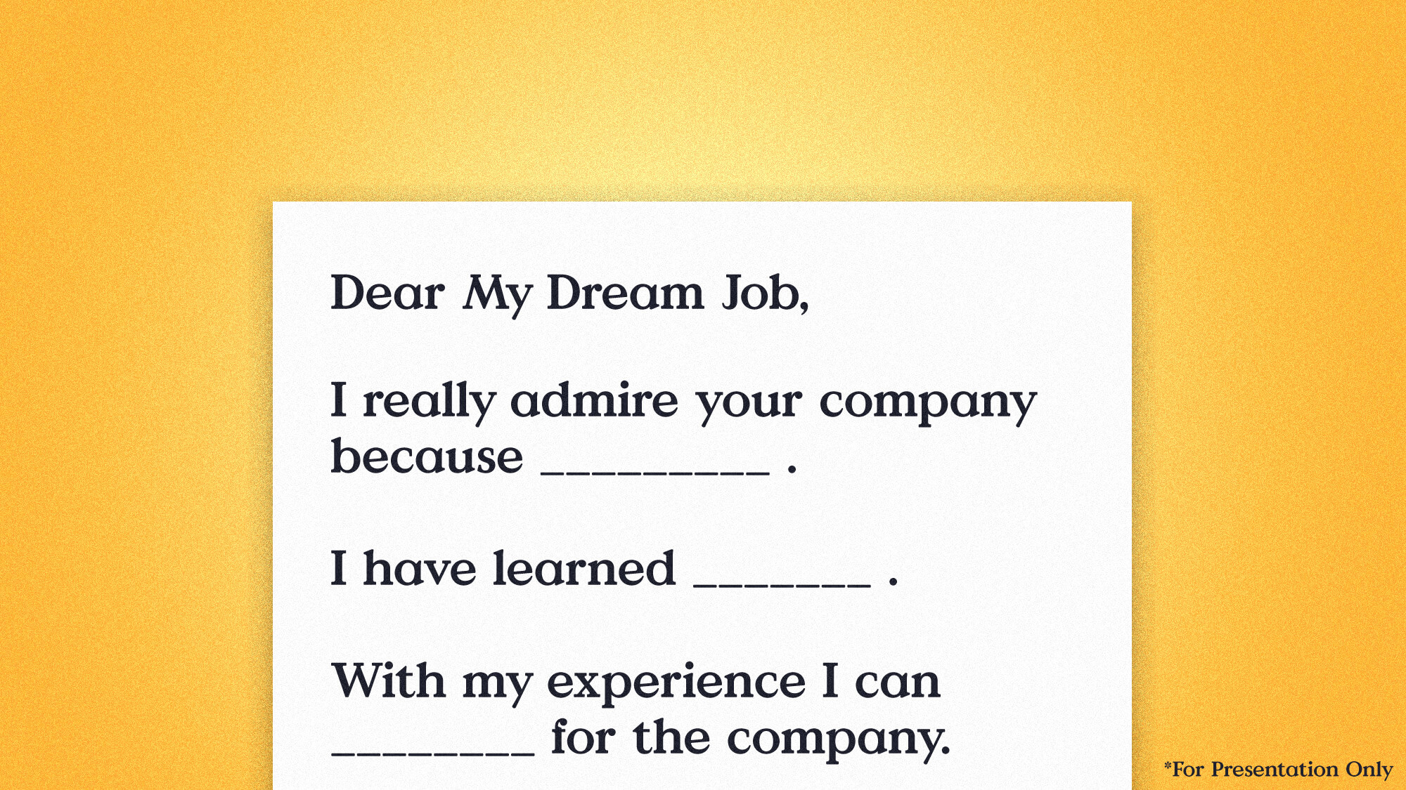 How to Land a Creative Job After Graduating Tip #3: Write unique cover letters